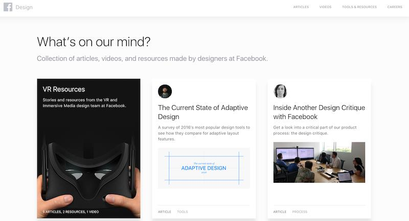 Facebook.design web screenshot